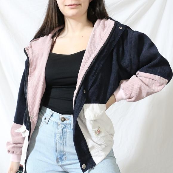 Colourblock Corduroy Jacket